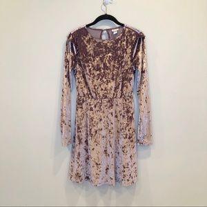 Mossimo Dusty Pink Velvet Dress, Sz S